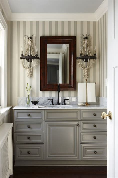 vanity mirror cabinets blue and gray striped walls blue walls and gray bathroom vanity