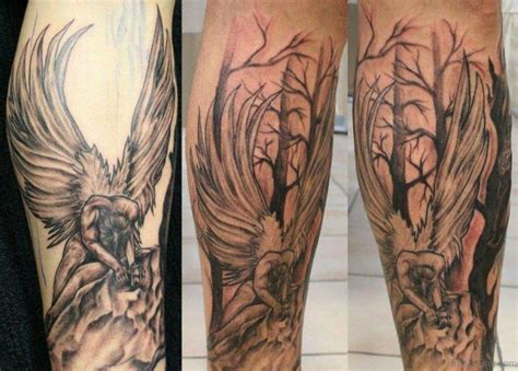 2 angels tattoo designs 60 loveable tattoos for leg