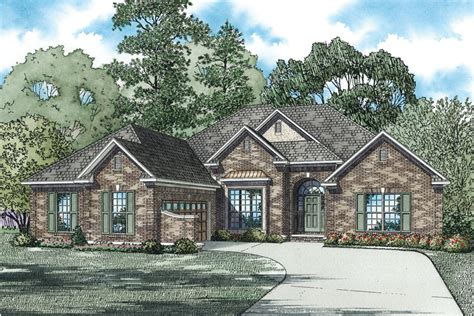 one story brick house plans palladio single story home plan 055d 0171 house plans