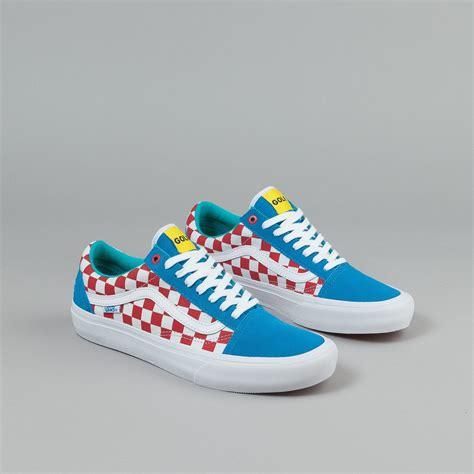 Baju Vans Golf Wang vans skool pro shoes golf wang blue white flatspot