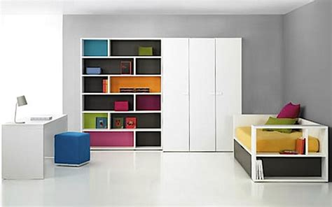 colored wall shelves giving a subtle color to shelves