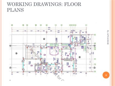 working drawing floor plan house design sample drawings