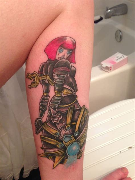 tattoo league orianna blade craft done at bad apple in las