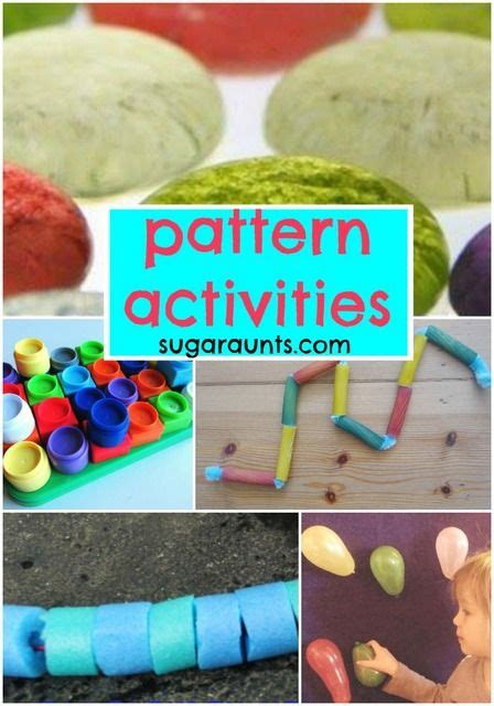 creative pattern games pattern activities for kids math play activities for