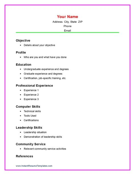 resume templates for a student with no work experience student resume templates no work experience fresh resume