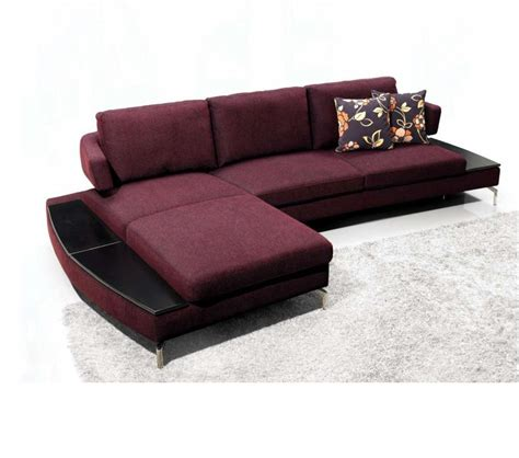 Purple Sectional Sofa Dreamfurniture 1077 Purple Fabric Sectional Sofa