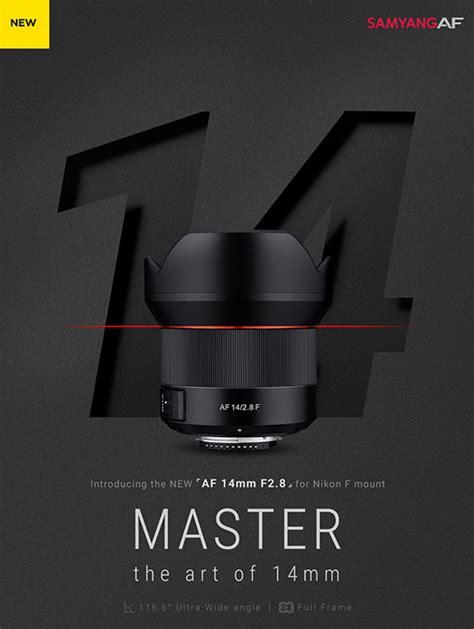 Samyang 14mm F 2 8 Lens For Nikon samyang af 14mm f 2 8 f frame autofocus lens for