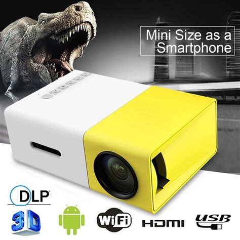 Murah Yg300 Mini Led Projector Portable mini portable yg300 led projector home cinema theater pc