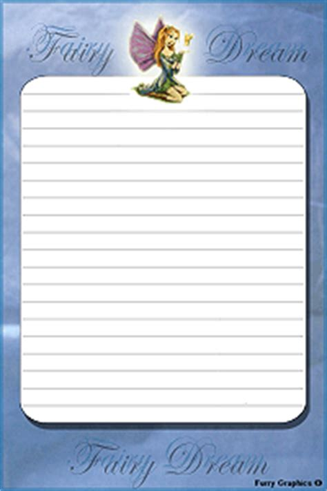 fairy stationary writing paper