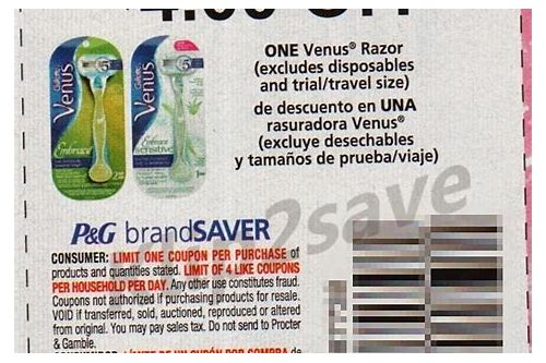 printable coupon venus razor
