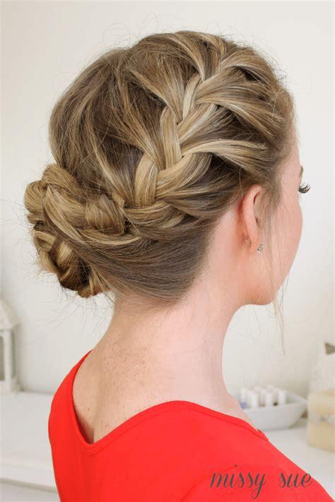 bun with braid around it how to waterfall dutch french braided bun