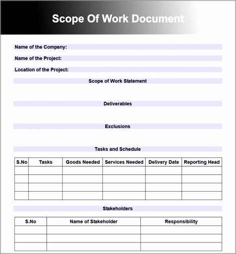 project scope document template free 6 project scope document template free dtaoa templatesz234