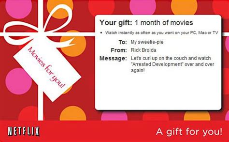 Netflix 6 Month Gift Card - easy last minute gifts you can print or e mail cnet