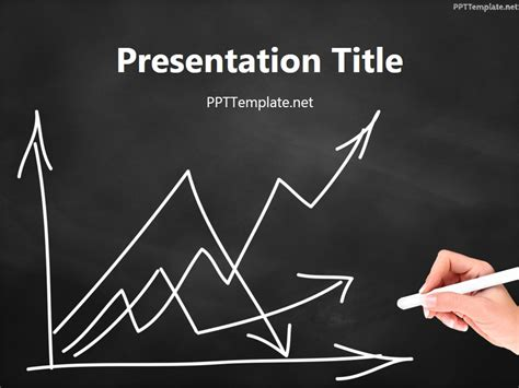 chalkboard powerpoint template free free empty graph chalk black ppt template