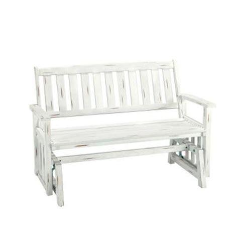 white outdoor glider bench home styles bali hai outdoor white washed glider patio