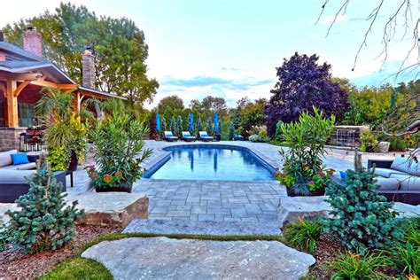 poolside landscaping swimming pool design ideas hgtv