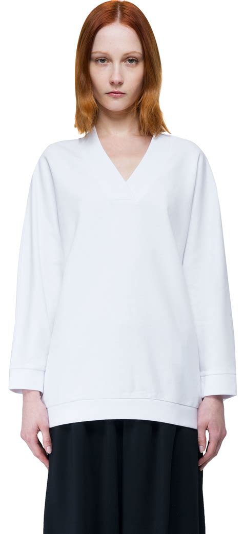 V Neck Lettering Sweatshirt kenzo v neck sweatshirt in white lyst