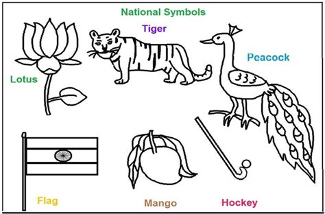 india coloring pages pdf national symbols of india coloring printable pages