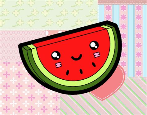 imagenes de frutas kawaii dibujo de sand 237 a kawaii pintado por en dibujos net el d 237 a
