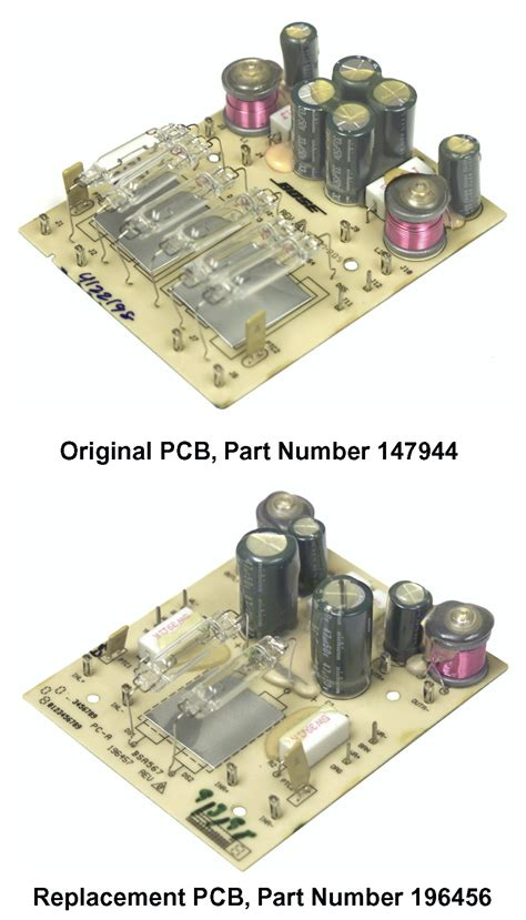 bose acoustimass  series ii replacement pcb whats