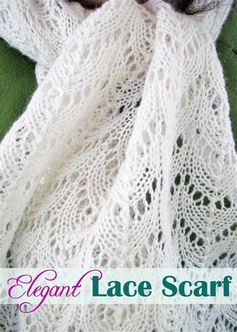 lace scarf patterns knitted free lace scarf