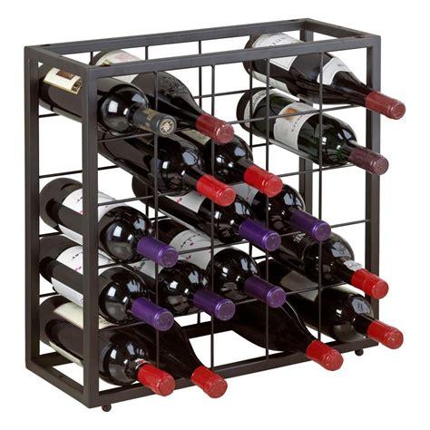 Stackable Wine Racks by Wine Enthusiast 18 Bottle Stackable Wine Rack Kit In