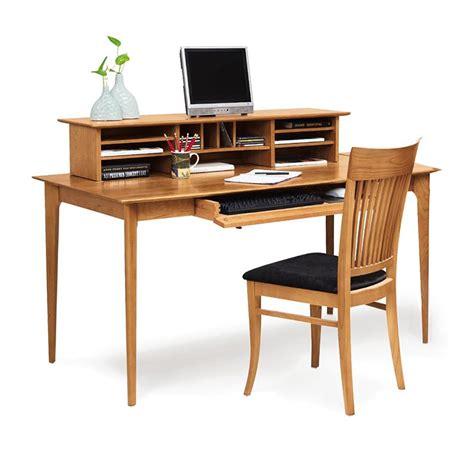Sarah Solid Cherry Wood Desk With Organizer Custom Hand Large Desk Organizer