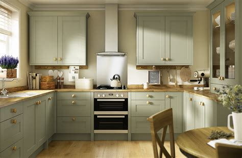 Sage Green And Grey Bedroom by Traditional Shaker Style Kitchens Oxford Range
