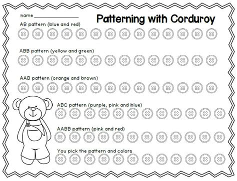 color pattern aabb teach with laughter patterning with corduroy