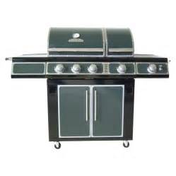 shop master forge green 3 burner 36 000 btu natural gas or liquid propane gas grill with side
