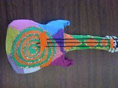How To Make A Paper Mache Guitar - guitar pop guitars guitar sculptures