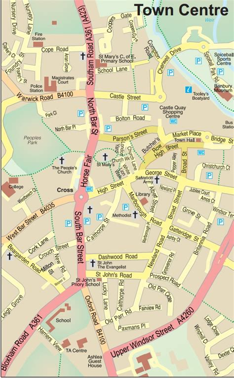 banbury map uk map of town centre banbury town council