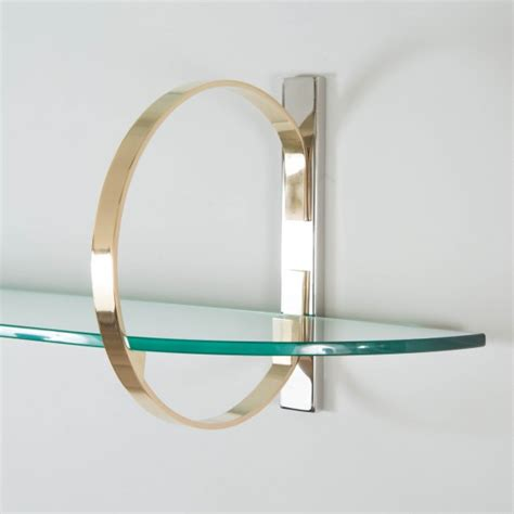 wall mounted demilune glass console shelf console