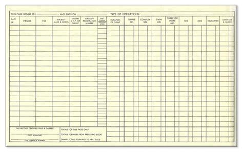 stafford senior pilot log books