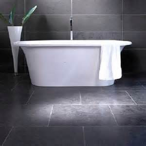 bathroom slate floor tiles monochromatic bathroom blogueluxe