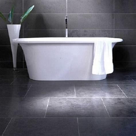 bathroom grey floor tiles monochromatic bathroom blogueluxe