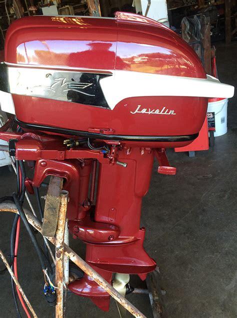 vintage boat values 1956 30 hp johnson javelin antique outboard
