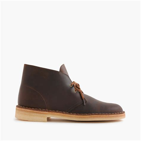 j crew clarks originals desert boots in brown for lyst