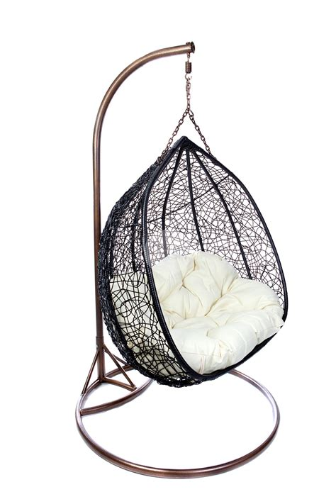 Patio Hanging Egg Chair Hanging Egg Chair Black Buy Chairs Outdoor Wicker Notable Kiraahn