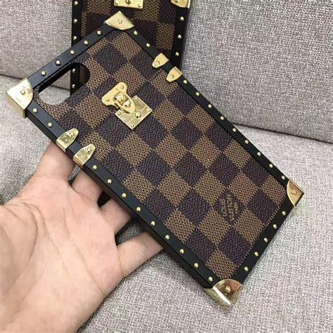 buy wholesale newest lv classic plaid pattern leather cases for iphone 8 plus louis vuitton