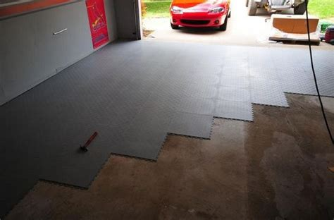 black rubber interlocking garage floor tiles flooring