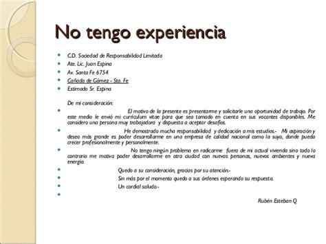 Modelos De Curriculum Vitae Tener Experiencia Laboral carta de apresentaci 243 n laboral estructura consejos y