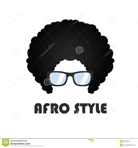 afro hairstyles vector afro style logo vector design stock vector image 95509234