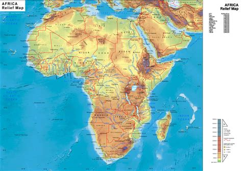 geographical map of africa physical map africa mappery