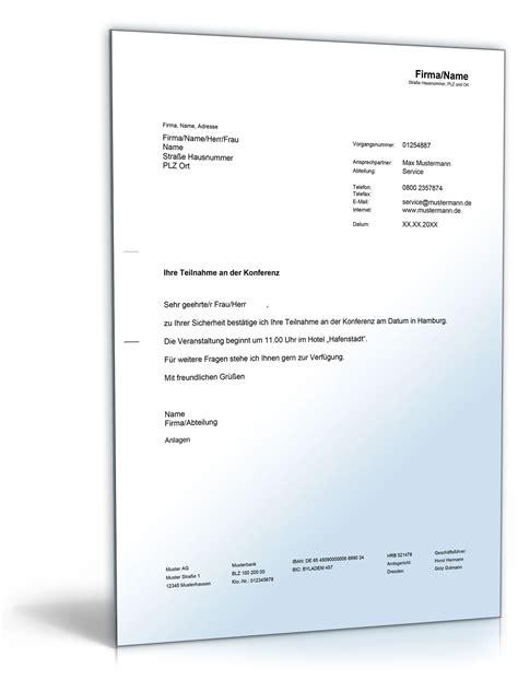 Musterbriefe Privat Best 228 Tigung Konferenzteilnahme Vorlage Zum