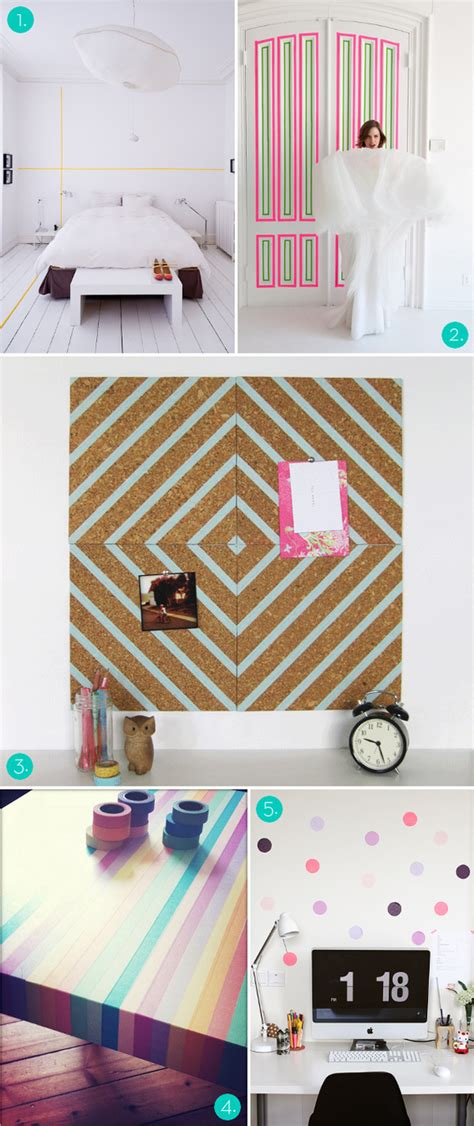washi tape bedroom roundup 5 ways to decorate with washi tape renovations