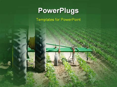 powerpoint themes agriculture close up photo of a tractor plowing the field powerpoint