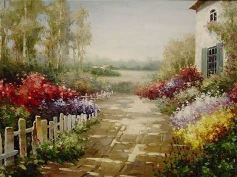 Garden Of Oils by Painting Reproductions Garden Paintings Garden Painting Garden