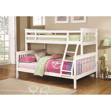 coaster bunks traditional twin  full bunk bed  city furniture bunk beds