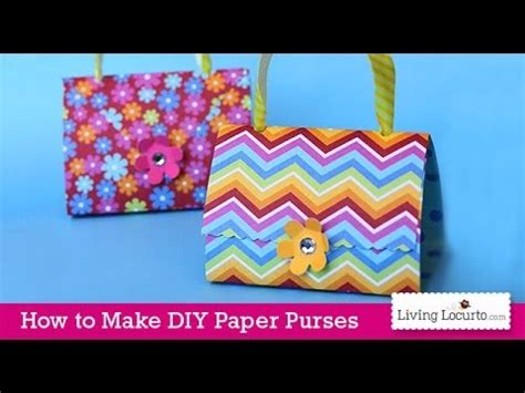 paper purse craft tutorial easy favors